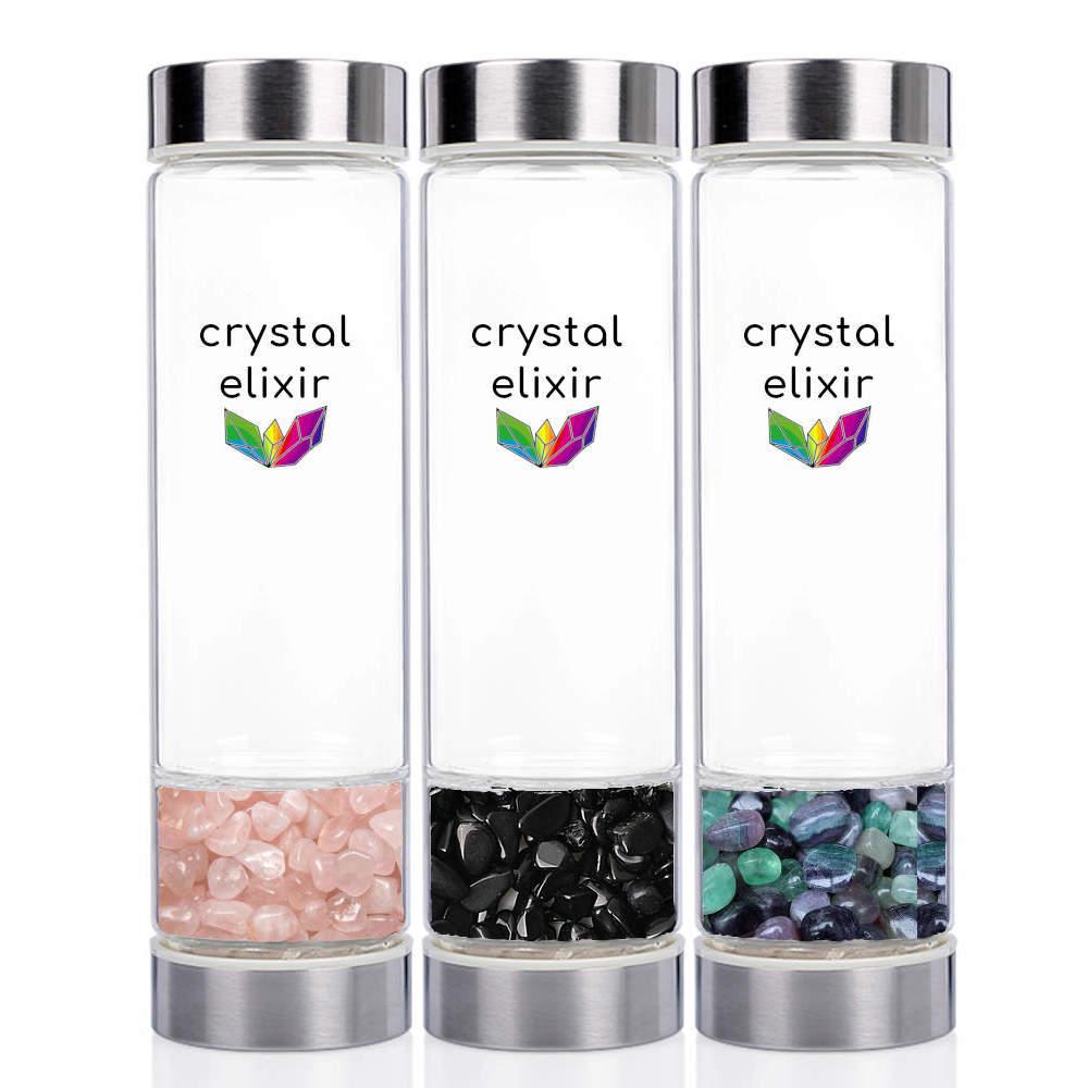 Three Crystal Elixir Water Bottles