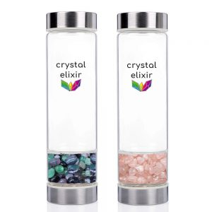 Two Crystal Elixir Water Bottles