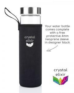 Crystal Drink Bottle Protective Neoprene Sleeve