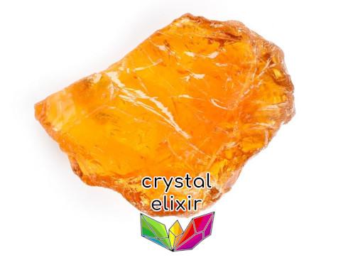 citrine crystal chunk