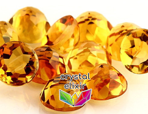 citrine cut crystals