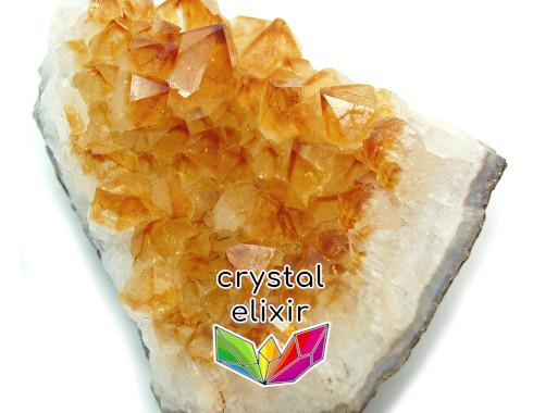 citrine crystal cluster