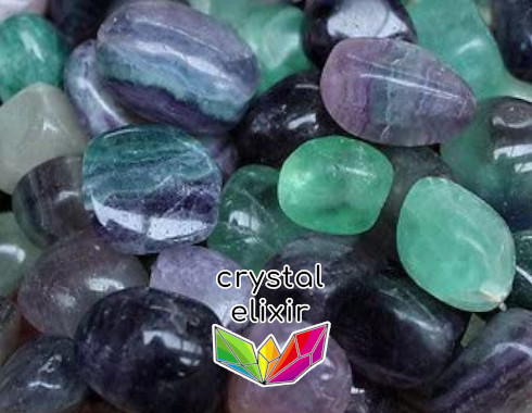 Fluorite crystal tumbled stones