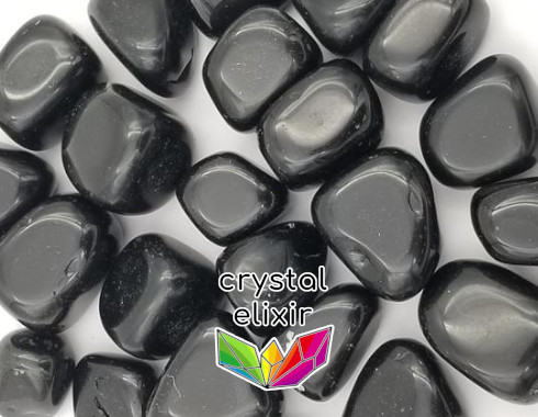 Obsidian polished tumbled stones