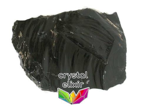 Obsidian flake stone