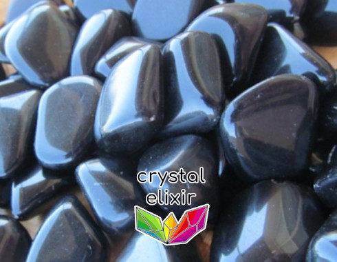 Obsidian tumbled stones